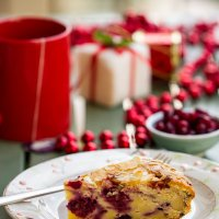 Winter cake with red berries
