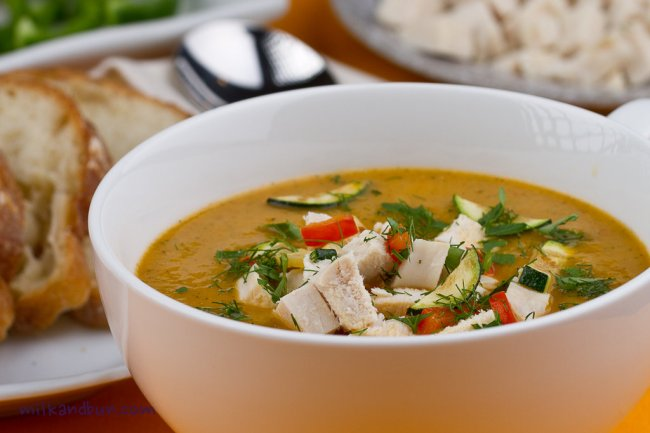 Chicken vegetable soup-2