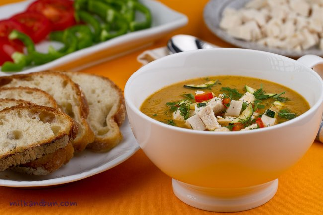Chicken vegetable soup-3