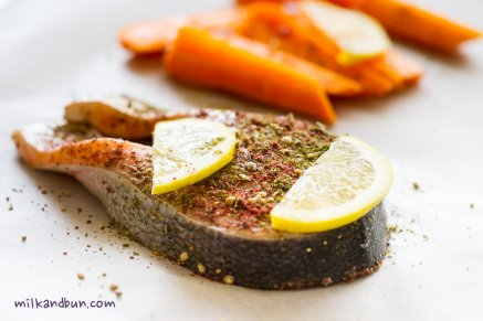 Top with zaatar and sesame