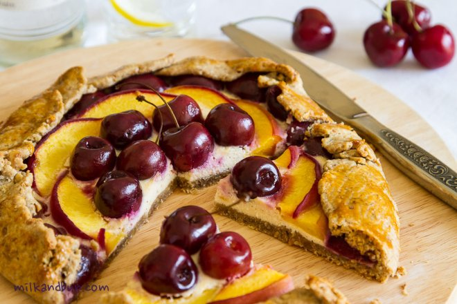 Cherry-Peach Galette