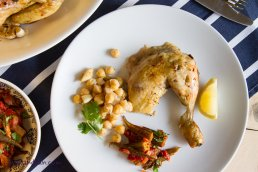 Chicken with chickpeas and okra