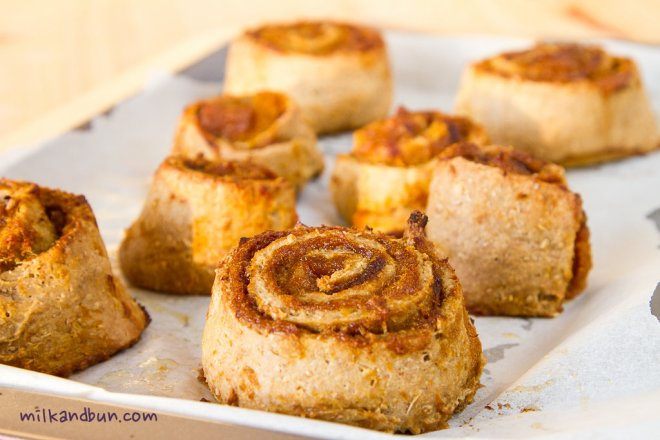 Pumpkin Rolls with brown sugar and cinnamon