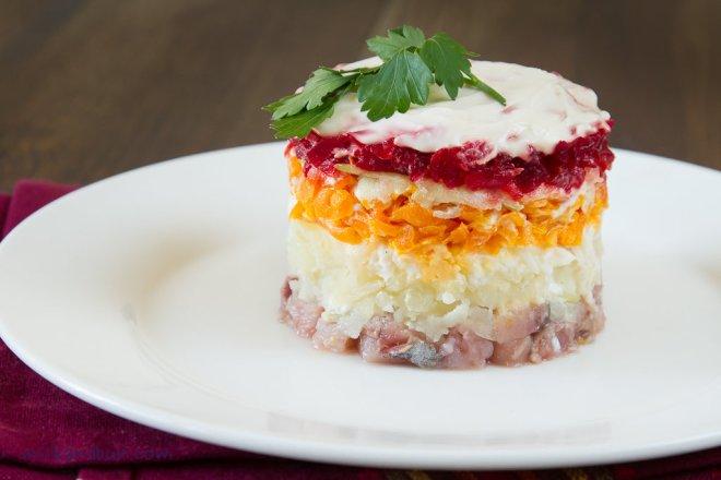 Russian layered salad - Shuba