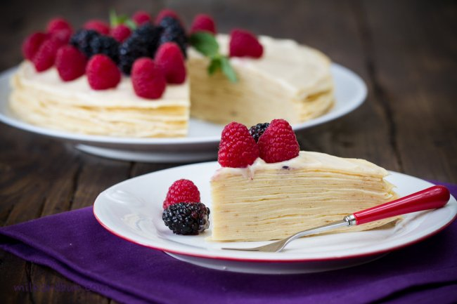 Blini Cake with custard cream
