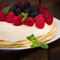 Crepe Cake with custard creme
