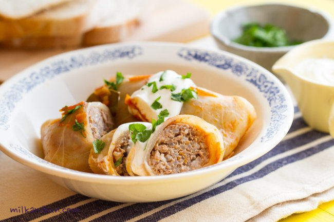 Golubtsi - Russian stuffed cabbage rolls