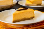 Slice of pumpkin cheesecake