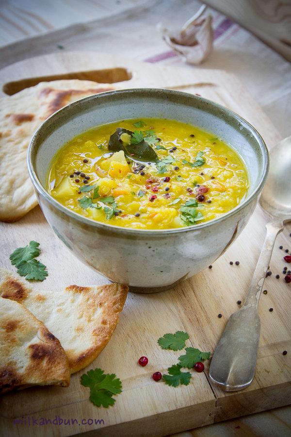 Masoor Dal (red lentil) Soup