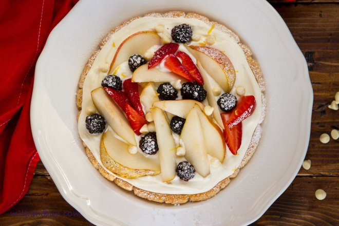Pear&Blackberry Tart