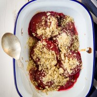 Best Ever Plum Crumble