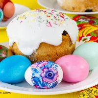 Russian Easter. Kulich