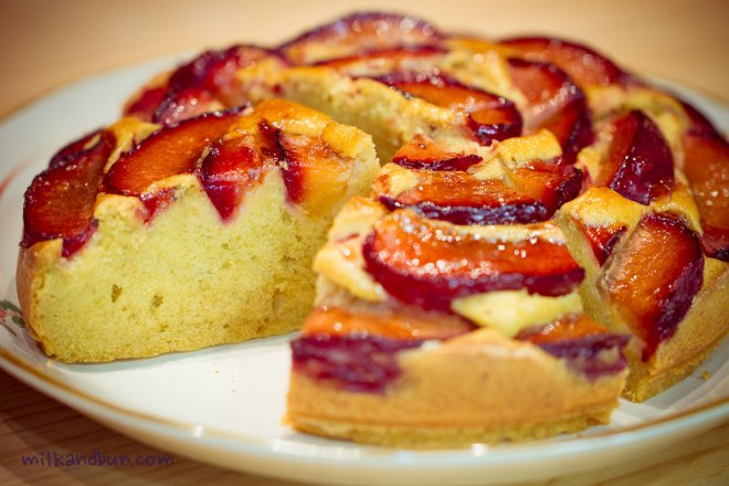 Tender and Tasty Plum cake
