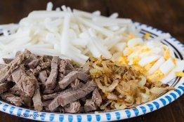 Ingredients for Tashkent salad