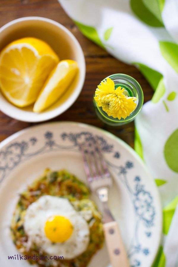 Zucchini oladushki/yellow flower