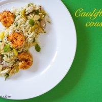 Cauliflower couscous with shrimps
