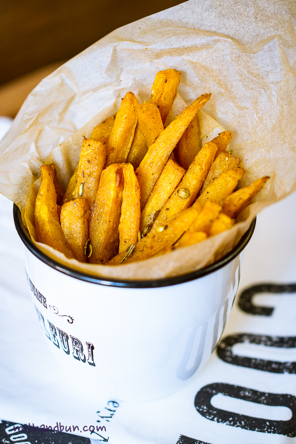 Oven roasted potato fries