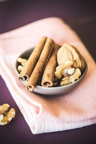 cinnamon sticks and walnuts