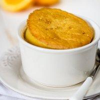 Mandarin-lemon pudding