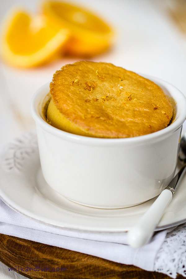 Mandarin-lemon pudding