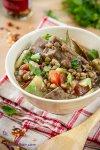 Thick lentil soup