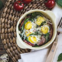 Sunday Breakfast: Baked quail eggs
