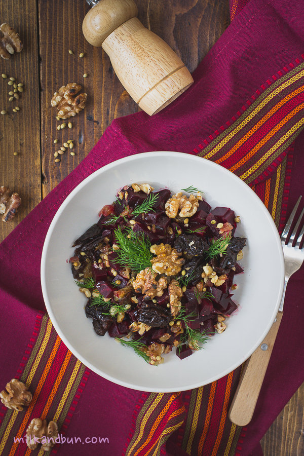 MonasteryBeetroot Salad with coriander seeds