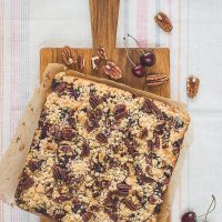 Wholewheat Cherry Pie (with pecans)
