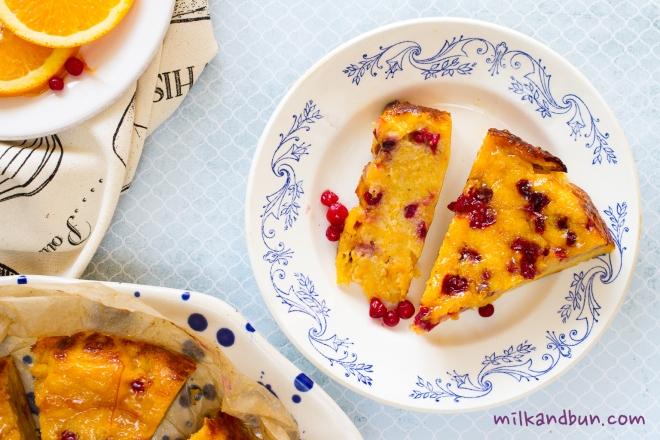Pumpkin Lingonberry Cake